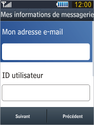 Samsung B3410 Star Qwerty - E-mail - Configuration manuelle - Étape 12