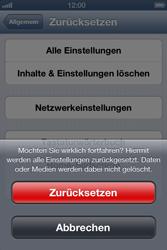 Apple iPhone 4 S - Fehlerbehebung - Handy zurücksetzen - 9 / 10