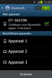 Samsung S6310 Galaxy Young - bluetooth - aanzetten - stap 7