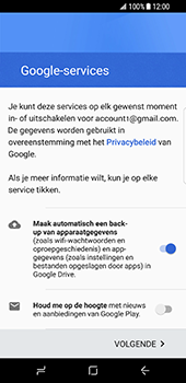 Samsung Galaxy S8 (G950) - Applicaties - Account aanmaken - Stap 17