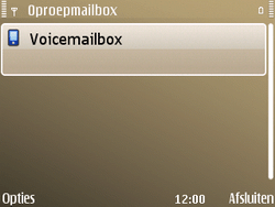 Nokia E72 - Voicemail - handmatig instellen - Stap 8