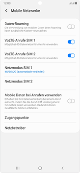 Samsung Galaxy Note 20 Ultra 5G - Netzwerk - So aktivieren Sie eine 5G-Verbindung - Schritt 6