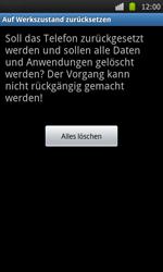 Samsung I9000 Galaxy S - Fehlerbehebung - Handy zurücksetzen - Schritt 9