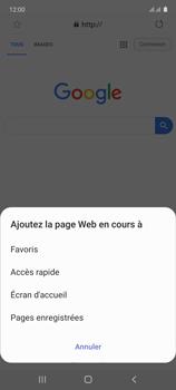 Samsung Galaxy Note 10 Lite - Internet et connexion - Naviguer sur internet - Étape 9
