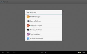 Sony Xperia Tablet Z LTE - E-Mail - E-Mail versenden - 1 / 1