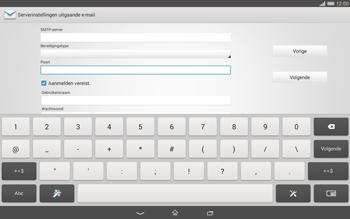 Sony Xperia Tablet Z2 4G (SGP521) - E-mail - Handmatig instellen - Stap 14