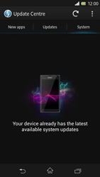 Sony Xperia Z - Software - Installing software updates - Step 8