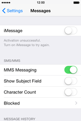 Apple iPhone 4 S - iOS 8 - MMS - Manual configuration - Step 11
