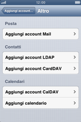Apple iPhone 3GS - E-mail - Configurazione manuale - Fase 6