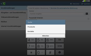 Samsung Galaxy Tab 3 10-1 LTE - Anrufe - Anrufe blockieren - 10 / 14