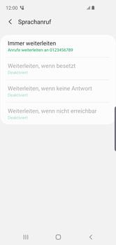 Samsung Galaxy S10e - Anrufe - Rufumleitungen setzen und löschen - 13 / 14