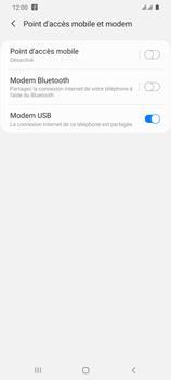 Samsung Galaxy S20 Ultra - Internet et connexion - Utiliser le mode modem par USB - Étape 10