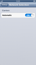 Apple iPhone 5 - Network - Manual network selection - Step 4