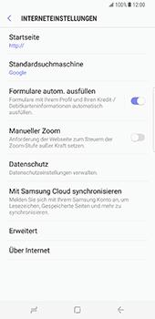 Samsung Galaxy S8 Plus - Datenschutz und Sicherheit - Cookies und Verlauf löschen - 8 / 12