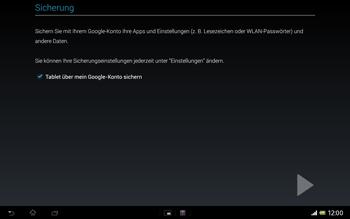 Sony Xperia Tablet Z LTE - Apps - Einrichten des App Stores - Schritt 24