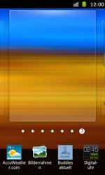 Samsung Galaxy S Advance - Startanleitung - Installieren von Widgets und Apps auf der Startseite - Schritt 4