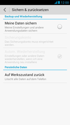 Huawei Ascend G526 - Fehlerbehebung - Handy zurücksetzen - Schritt 7