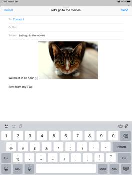 Apple iPad Mini 3 - iOS 12 - E-mail - Sending emails - Step 12