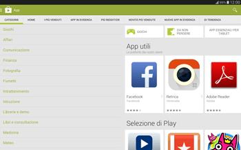 Samsung T805 Galaxy Tab S - Applicazioni - Installazione delle applicazioni - Fase 6