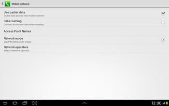 Samsung Galaxy Tab 2 10.1 - Internet and data roaming - Manual configuration - Step 6