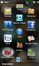 HTC T8585 HD II - internet - hoe te internetten - stap 2