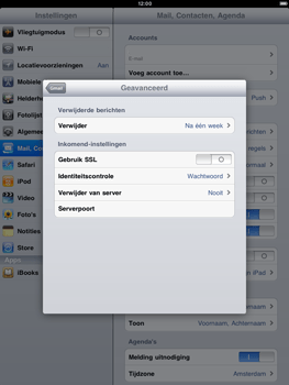 Apple iPad 2 - E-mail - handmatig instellen - Stap 14