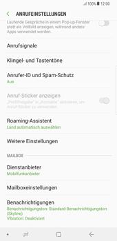 Samsung Galaxy S8 Plus - Anrufe - Rufumleitungen setzen und löschen - 6 / 12