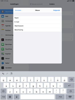 Apple ipad-air-10-5-inch-2019-model-a2123-ipados-13 - E-mail - Account instellen (POP3 zonder SMTP-verificatie) - Stap 9