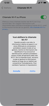 Apple iPhone XS Max - iOS 13 - WiFi - Attivare WiFi Calling - Fase 7