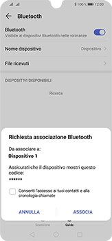 Huawei P30 Lite - Bluetooth - Collegamento dei dispositivi - Fase 7