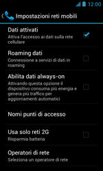 ZTE Blade III - Internet e roaming dati - Disattivazione del roaming dati - Fase 7