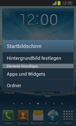 Samsung Galaxy Express - Startanleitung - Installieren von Widgets und Apps auf der Startseite - Schritt 3