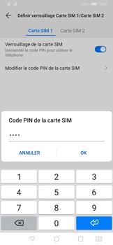 Huawei P30 Pro - Sécuriser votre mobile - Personnaliser le code PIN de votre carte SIM - Étape 10