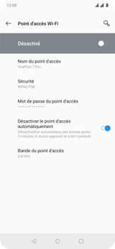 OnePlus 7 Pro - Internet et connexion - Partager votre connexion en Wi-Fi - Étape 13