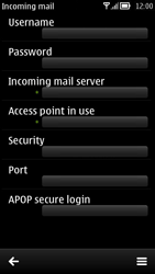 Nokia 700 - E-mail - Manual configuration - Step 20