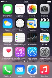 Apple iPhone 4S iOS 8 - MMS - hoe te versturen - Stap 1