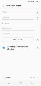 Samsung Galaxy S8 - Datenschutz und Sicherheit - Samsung einrichten - 9 / 18