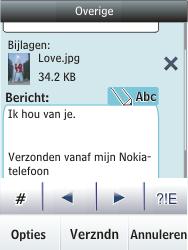 Nokia Asha 300 - E-mail - E-mails verzenden - Stap 17