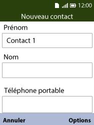 Alcatel 3088X - Contact, Appels, SMS/MMS - Ajouter un contact - Étape 7