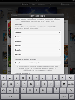 Apple iPad mini - Applications - Configuration de votre store d