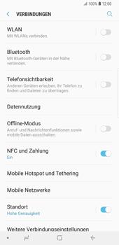 Samsung Galaxy S9 Plus - Internet und Datenroaming - Prüfen, ob Datenkonnektivität aktiviert ist - Schritt 5