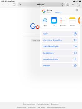 Apple iPad 9.7 (2018) - iPadOS 13 - Internet und Datenroaming - Verwenden des Internets - Schritt 6