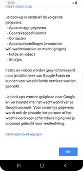 Samsung Galaxy S9 Android Pie - Data - maak een back-up met je account - Stap 10