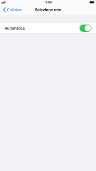 Apple iPhone 7 Plus - iOS 13 - Rete - Selezione manuale della rete - Fase 5