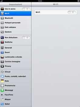 Apple iPad Retina - Internet e roaming dati - disattivazione del roaming dati - Fase 3