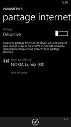 Nokia Lumia 930 - Internet et connexion - Partager votre connexion en Wi-Fi - Étape 5