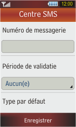 Samsung S5230 Star - SMS - Configuration manuelle - Étape 8