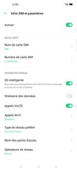 Oppo Find X2 Pro - Internet et connexion - Activer la 4G - Étape 8