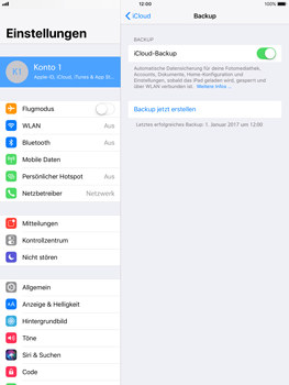 Apple iPad mini 2 - Software - iCloud synchronisieren - 6 / 10