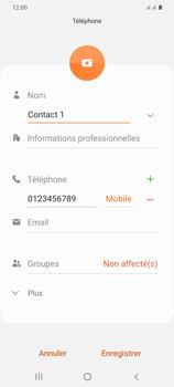 Samsung Galaxy S20+ - Contact, Appels, SMS/MMS - Ajouter un contact - Étape 10